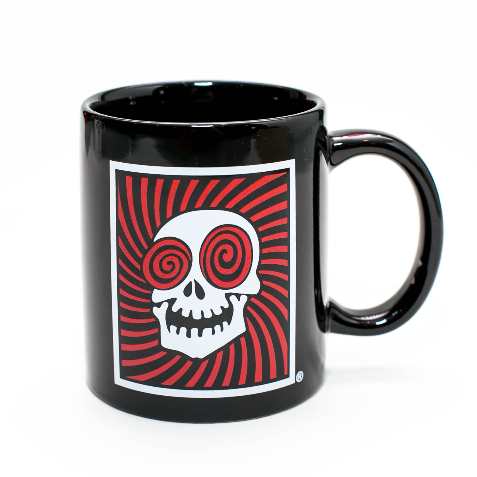 Original Skull Logo Black Coffee Mug The Vortex
